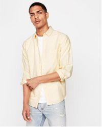 Express - Slim Soft Wash Yarn Dye Oxford Shirt - Lyst