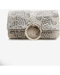Express Shiraleah Carter Fold Clutch Neutral Print - Metallic