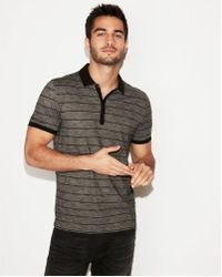 Express - Supersoft Thin Stripe Jersey Polo - Lyst