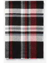Express Plaid Woven Scarf - Red