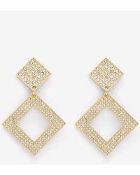 Express Luv Aj The Pave Princess Earrings Gold - Metallic