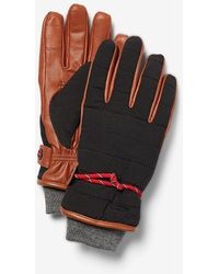 Express Genuine Leather Stretch Touchscreen Compatible Gloves Brown