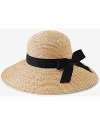 Express San Diego Hat Company Raffia Large Brim Hat Black