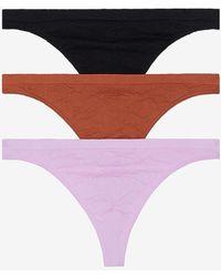 Express Honeydew Intimates Set Of 3 Keagan Thong Underwear Black L