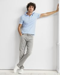 Express Piped Luxe Pique Polo Blue Xs