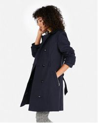 Express - Solid Trench Coat - Lyst