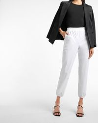 Express High Waisted All-day Pull-on Sweatpants White Xs