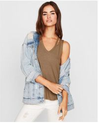 Express - One Eleven Double Slash Neck Tank - Lyst