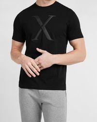 Express Black Bandana Logo Graphic T-shirt