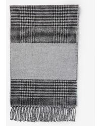 Express Houndstooth Wool-blend Scarf - Gray