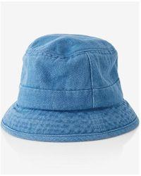 Express Denim Bucket Hat - Blue