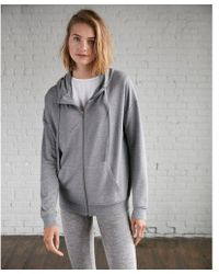 Express - One Eleven Heathered Funnel Neck Zip Hoodie - Lyst