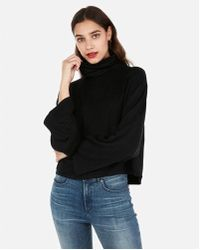 Express - One Eleven Cropped Flared Sleeve Sweatshirt - Lyst