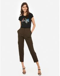 Express Fearless Floral Graphic Slim Tee Black