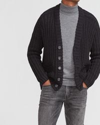 Express Oversized Knit Cardigan - Black