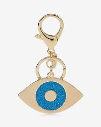 Express Itter Evil Eye Keychain - Metallic
