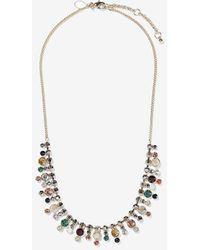 Express Multi-stone Statement Necklace - Multicolour
