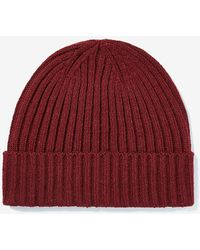 Express Ribbed Turnback Beanie Red