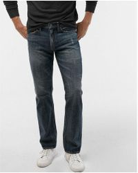Express - Ig & Tall Slim Straight Medium Wash Distressed Soft Cotton Jeans, Men's Size:w38 L36 - Lyst