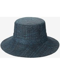 Express San Diego Hat Company Wide Brim Bucket Hat Navy - Blue