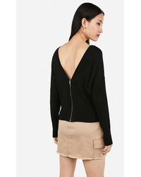 Express Zip Back Pullover Jumper Black