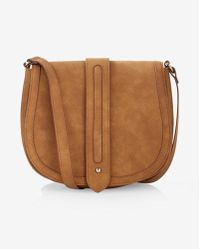 Express | Faux Suede Trapunto Stitch Cross Body Saddle Bag | Lyst