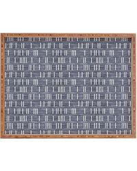 Express Deny Designs Denim Mudcloth Rectangular Tray Blue