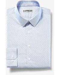 Express - Big & Tall Extra Slim Dot Stripe Dress Shirt Blue Xxl - Lyst
