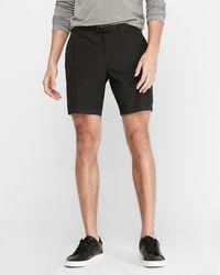 Express Nylon Belted Cargo Shorts - Black