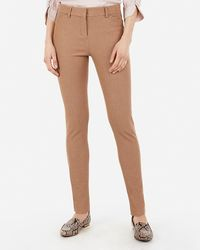 Express Mid Rise Stretch Skinny Pant Brown 18 Short