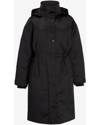 Express Satin Puffer Coat Pitch Black