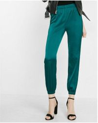 Express - Mid-rise Satin Ankle Jogger Pant - Lyst