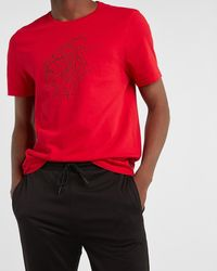 Express Red Lion Graphic T-shirt