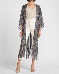 Express Metallic Paisley Kimono Cover-up - Multicolour