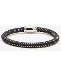 Express Rubber Metal Speck Bracelet Black