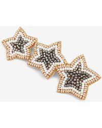 Express Star Beaded Brooch - Metallic