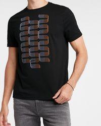 Express Black Waves Graphic T-shirt