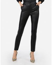 Express Negin Mirsalehi Faux Leather Ankle Pant Black