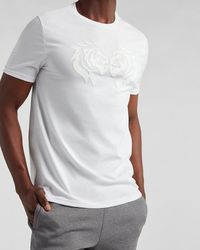 Express White Lion Graphic T-shirt