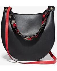 Express Link Handle Hobo Crossbody Bag - Black