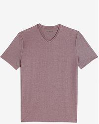 Express Solid Moisture-wicking V-neck T-shirt - Purple