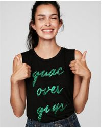 Express - Guac Over Guys Crew Neck Muscle Tank - Lyst