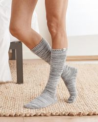 Express Upwest Cable Knit Snuggle Socks Gray Onesize