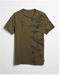 Express - Exp Nyc Maps Graphic Tee - Lyst