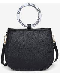 Express Moda Luxe Savanah Pebble Crossbody Bag Black