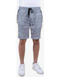 Express Brooklyn Cloth Slant Zipper Pocket Shorts White S