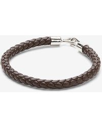 Express Brown Faux Leather Braided Bracelet