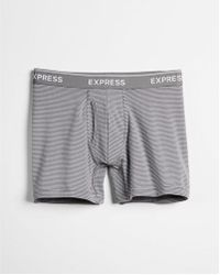 Express - Supersoft Striped Boxer Briefs - Lyst