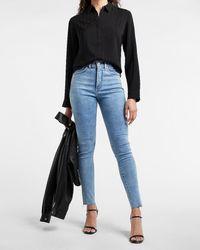 Express Satin Striped Portofino Shirt Black M