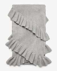 Express - Double Ruffle Oblong Scarf - Lyst